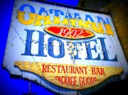 Old Signs Prints - Oatman Hotel Print by Randall Weidner