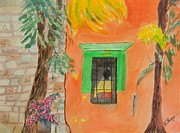 Warren Thompson Art Prints - Oaxaca Mexico Church Colors Print by Warren Thompson