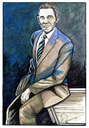 Barack Obama Drawings Prints - Obama 2012 Print by Dave Olsen