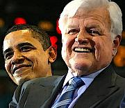 Endorsement Digital Art - Obama and Kennedy by Gabe Art Inc