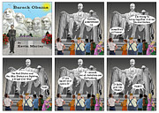 Barack Obama Digital Art Prints - Obama as Lincoln Print by Kevin  Marley