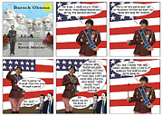 Barack Obama Prints - Obama as Patton  Print by Kevin  Marley