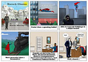 Barack Obama Digital Art Prints - Obama as Superman Print by Kevin  Marley