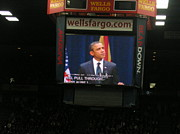 Mchale Center Framed Prints - Obama at Mchale in Tucson Framed Print by Jayne Kerr Proano