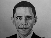 Obama Drawings Framed Prints - Obama Framed Print by Carlos Velasquez Art
