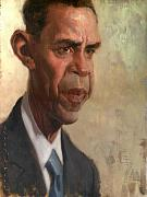 Barack Obama  Painting Prints - Obama Print by Court Jones