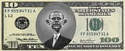Obama Mixed Media Metal Prints - Obama Dollar Metal Print by Charles Robinson