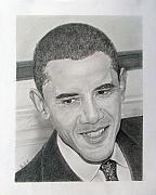 Barack Obama Drawings Prints - Obama Print by Felipe Galindo