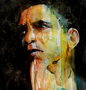 Barack Obama  Painting Prints - Obama Print by Paul Lovering