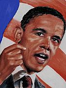 Obama Pastels - Obama by Prys Miller