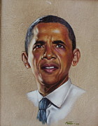 Michele Obama Paintings - Obama U S  President by Mahto Hogue