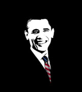 Barack Obama Digital Art Metal Prints - Obama Metal Print by War Is Hell Store