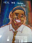 Barrack Obama Posters - Obama Yes We Did Poster by R Bruce Macdonald