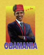 Obama Paintings - Obamania by Nickel Ange