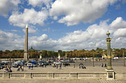 Ile De France Framed Prints - Obelisque place de la Concorde. Paris. France Framed Print by Bernard Jaubert