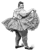 Obese Woman, 19th Century Print by