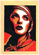 Popart Drawings Prints - Obey Popart Painting Print by Gilbert Cruz