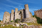 Brick Framed Prints - Obidos Castle Framed Print by Carlos Caetano