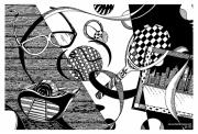Objects And Ribbon Print by James Sayer