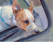 Animal Commission Prints - Objects in Mirror Print by Kimberly Santini