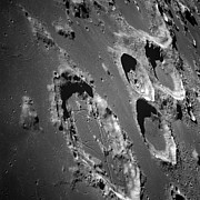 Moonscape Prints - Oblique View Of The Lunar Surface Print by Stocktrek Images