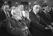 Questioning Prints - Obruchev And Colleagues, Moscow, 1937 Print by Ria Novosti