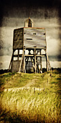 North Sea Mixed Media Prints - Observation tower Print by Angela Doelling AD DESIGN Photo and PhotoArt