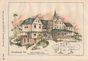 Victorian Inn Posters - Obwebetuck Inn. South Windham Connecticut 1888 Poster by Howard Hoppin