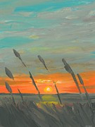 North Sea Paintings - OBX Oats by DC Decker