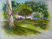 Ocala Painting Framed Prints - Ocala Park FL Framed Print by Janet McGrath