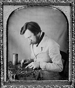 Daguerreotype Framed Prints - Occupational Portrait Of A Tinworker Framed Print by Everett
