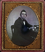 Daguerreotype Framed Prints - Occupational Portrait Of A Watchmaker Framed Print by Everett