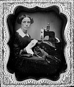Daguerreotype Prints - Occupational Portrait Of A Woman Print by Everett