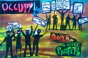 Politics Paintings - Occupiers Unite by Tony B Conscious