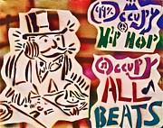 Tea Party Paintings - Occupy All Beats by Tony B Conscious