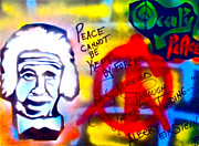 Stencil Art Paintings - Occupy Einstein by Tony B Conscious