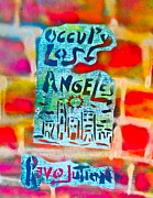 Conservative Painting Framed Prints - Occupy Los Angeles Framed Print by Tony B Conscious