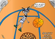 March Drawings - Occupy March Madness Cartoon by Yasha Harari