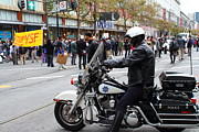 Motorcycle Posters - Occupy SF . 7D9739 Poster by Wingsdomain Art and Photography