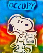 Tea Party Paintings - Occupy Snoopy by Tony B Conscious