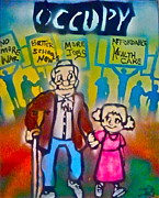 Obama Paintings - Occupy The Young and Old by Tony B Conscious