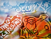 Tea Party Paintings - Occupy X-mas by Tony B Conscious