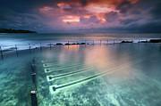 Ocean Baths Print by Yury Prokopenko