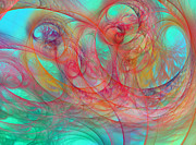 Fractals Digital Art - Ocean Currents I of II by Betsy A Cutler East Coast Barrier Islands