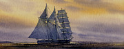 Sailing Vessel Print Metal Prints - Ocean Dawn Metal Print by James Williamson