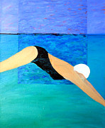 Free Form Paintings - Ocean Dive by Lisa Baack