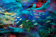 Dolphins Digital Art - Ocean Dreams by Rhonda Strickland