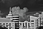 City Scape Metal Prints - Ocean Drive Miami Beach Metal Print by Joel P Black