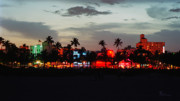 Bauhaus Photo Prints - Ocean Drive Night Life I Print by Frank Boellmann