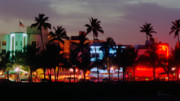 Bauhaus Photo Prints - Ocean Drive Night Life II Print by Frank Boellmann